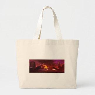 Red Alien Crystal World Bag Jumbo Tote Bag