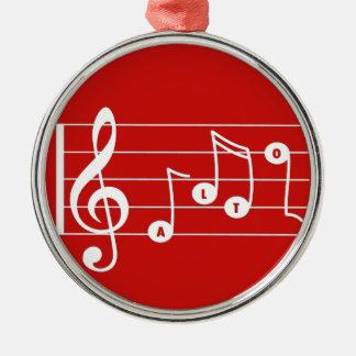 Red Alto Singer Musical Ornament