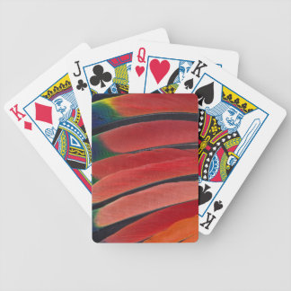 Red Amazon Parrot Feathers Bicycle Playing Cards