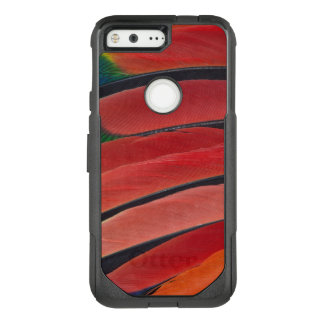 Red Amazon Parrot Feathers OtterBox Commuter Google Pixel Case