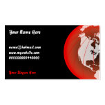 Red America Globe, Your Name Here, Business Card
