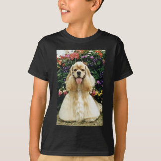 Red American cocker spaniel, champion flowers T-Shirt