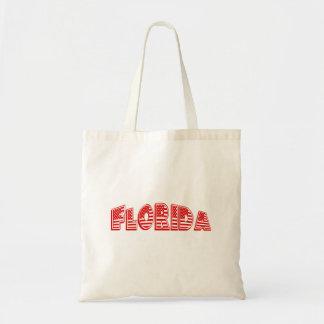 Red American Flag Florida Tote Bag