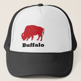 Red American Icon Buffalo trucker hat
