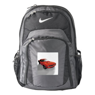 Red American muscle car Backpack