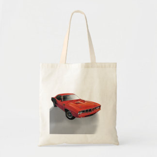 Red American muscle car Budget Tote Bag