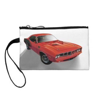 Red American muscle car Coin Wallets