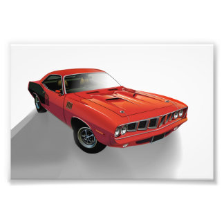 Red American muscle car Photo