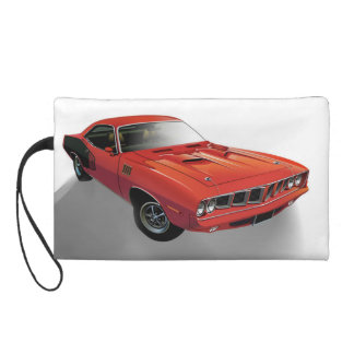Red American muscle car Wristlet Purses