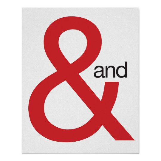 Red Ampersand Poster