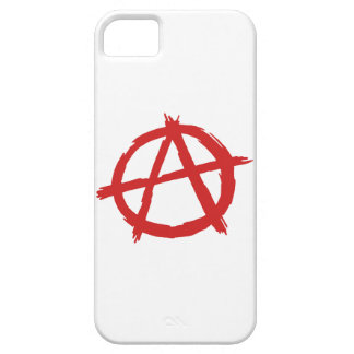 Red Anarchist A Symbol Anarchy Logo Barely There iPhone 5 Case