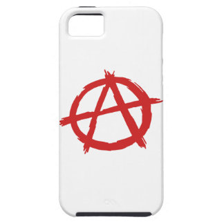 Red Anarchist A Symbol Anarchy Logo iPhone 5 Covers