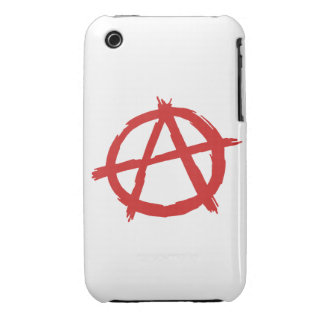 Red Anarchist A Symbol Anarchy Logo iPhone 3 Cover