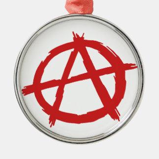 Red Anarchist A Symbol Anarchy Logo Christmas Ornament