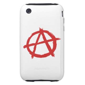 Red Anarchist A Symbol Anarchy Logo iPhone 3 Tough Cases