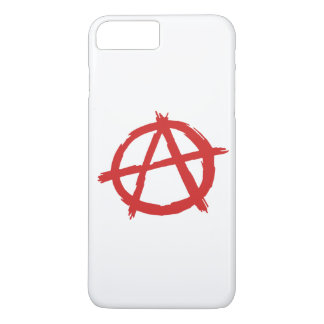 Red Anarchist A Symbol Anarchy Logo iPhone 7 Plus Case