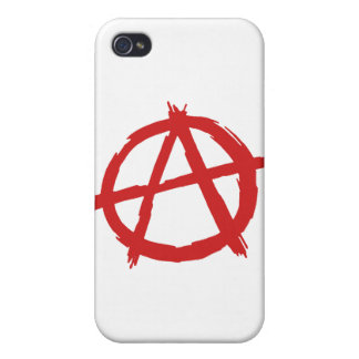 Red Anarchist A Symbol Anarchy Logo iPhone 4 Case