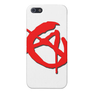 Red Anarchy Symbol Case For The iPhone 5