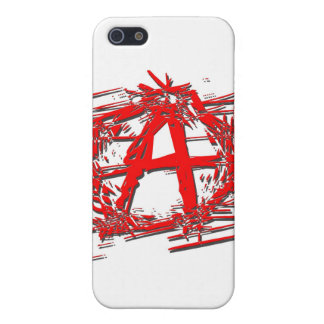 Red Anarchy Symbol Cover For iPhone 5/5S