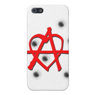 Red Anarchy Symbol iPhone 5 Case