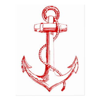 Red Anchor Post Cards