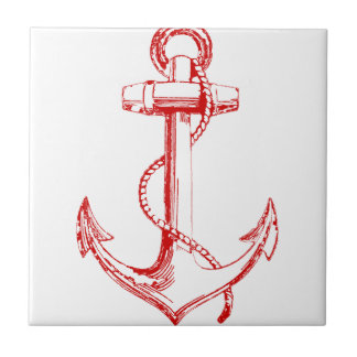 Red Anchor Tile