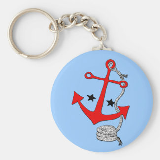 Red Anchors (for  ) Key Ring