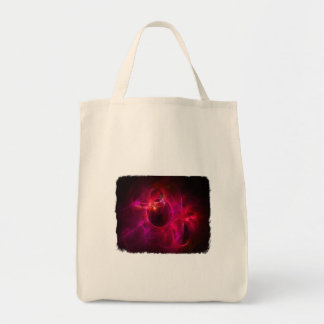 Red and Berry Circles 1 Tote Bags