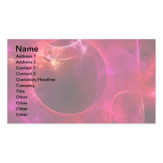 Red and Berry Circles Pack Of Standard Business Cards