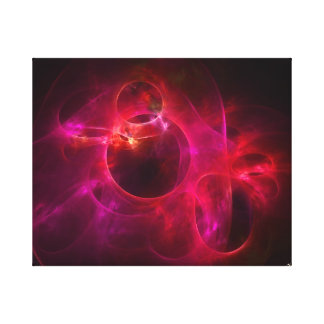 Red and Berry Circles Stretched Canvas Prints