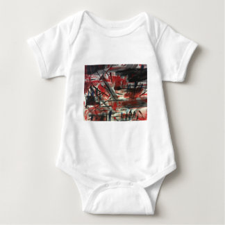 Red and Black Abstract Baby Bodysuit