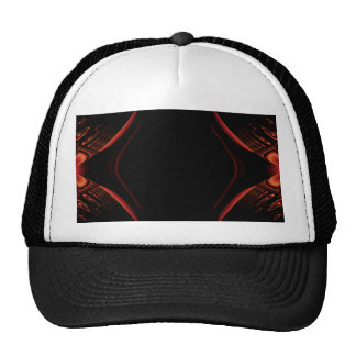 Red and Black Abstract Design Mesh Hat