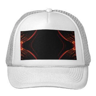 Red and Black Abstract Design Trucker Hats