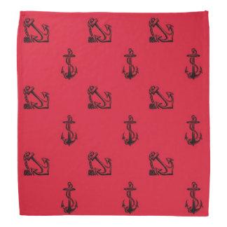 Red and Black anchors Bandana