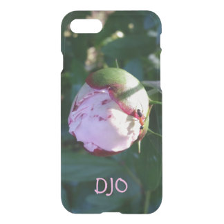Red and Black Ant on Big Pink Flower Bud iPhone 7 Case
