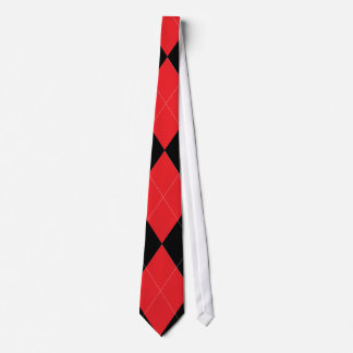 Red and Black Argyle Tie
