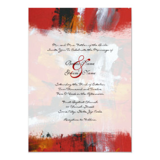 Red and Black Artistic Wedding Invitation