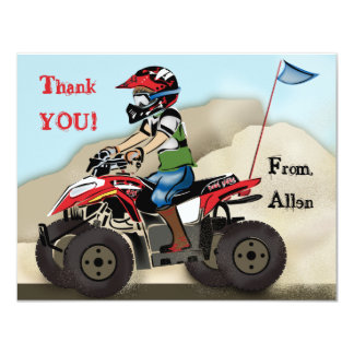 Red and Black ATV Kid Note Card