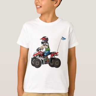 Red and Black ATV Kid T-Shirt
