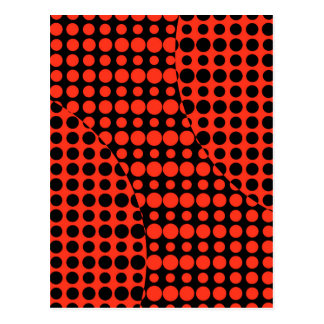 Red and Black Background Postcard
