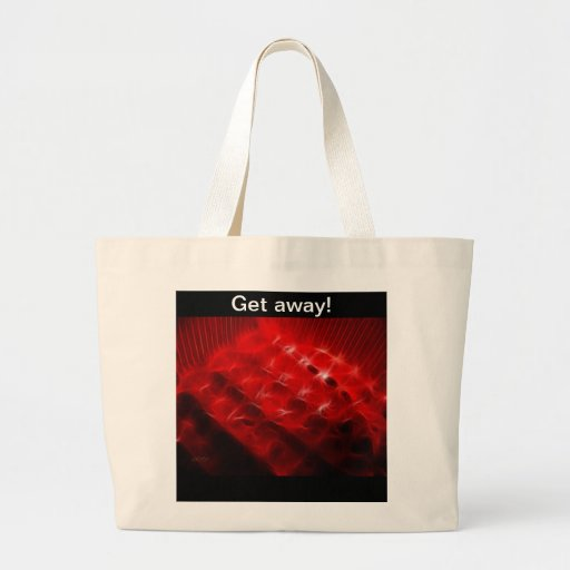 Red and black canvas bags