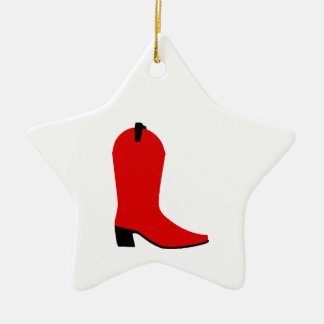 Red and Black Boot Christmas Ornament