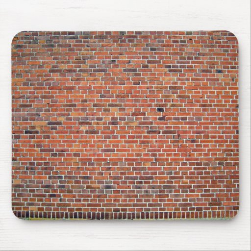 Red And Black Brick Wall With White Mortar Mousepad
