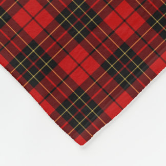 Red and Black Brodie Clan Tartan Fleece Blanket
