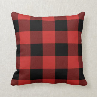 Red and Black Buffalo Check Pillow