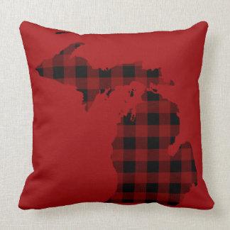 Red and Black Buffalo Plaid | Michigan Cushion