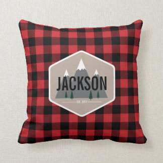 Red and Black Buffalo Plaid Pillow