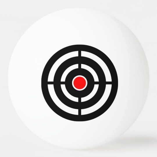 Red and Black Bull's Eye Target Ping Pong