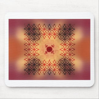 Red and black burn mouse pad