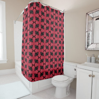 Red And Black Celtic Cross Shower Curtain